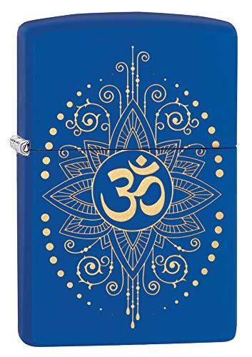 - Zippo Spiritual Lighters - Royal Blue Matte Ohm