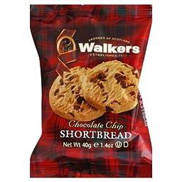 Walkers Chocolate Chip Shortbread Cookies 1.4 oz - Pack of 24