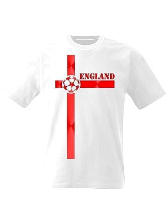 Camiseta de fútbol de Inglaterra Cruz de San Jorge: Amazon.es: Ropa y accesorios