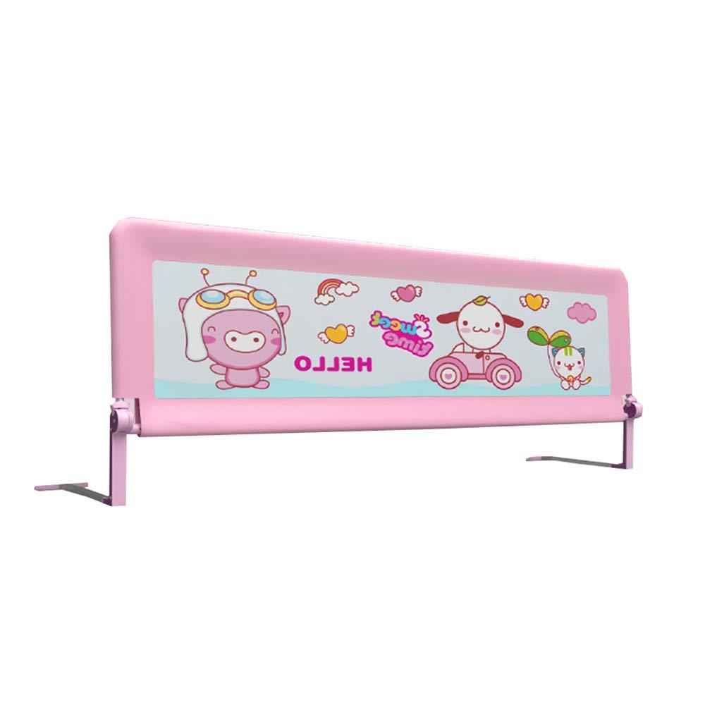 CHUNLAN ベッドガードレール 折り畳みベビーガードレール超薄型金属ベース安定した耐久性のあるベビーユニバーサルバッフル (色 : Pink, サイズ さいず : 180 * 64cm) 180*64cm Pink B07J9QTBFD