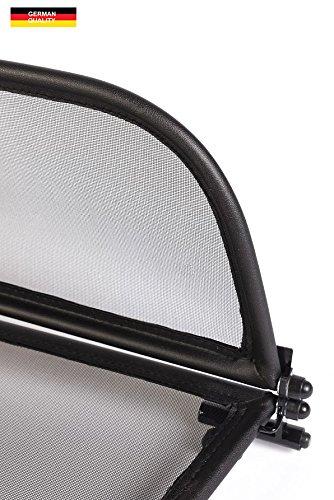 Deflector de Aire con Cierre R/ápido TiefTech Deflector de Viento para Opel Cascada Descapotable Deflector de Viento 2013 Parabrisas para descapotable Negro - Plegable