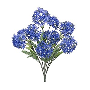 "18"" Snowball Bush x9 Blue Helio (pack of 12) 111"