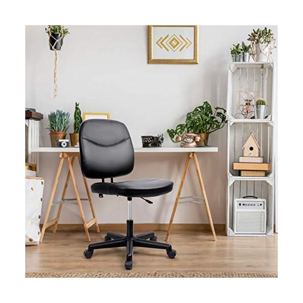 Besit Chaise de Bureau Ergonomique, Fauteuil de Bureau, Assise PU Large, Hauteur Réglable 82-94cm, Chaise Pivotant sans…