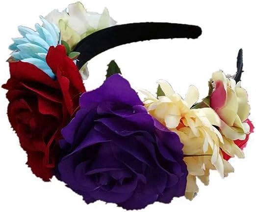 Brownrolly Frida Kahlo Flor Mexicana Corona Diadema Floral Corona ...