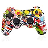OUBANG PS3 Controller Wireless Dualshock3 Joystick Upgrade Version PS3 Remote, Best Gift of Bluetooth Gaming Sixaxis Control Gamepad Heavy-duty Game Accessories for PlayStation 3 (Graffiti) Review