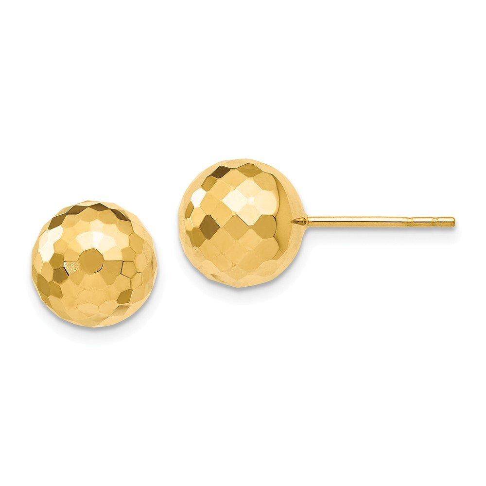 Leslie's 14k 9.4MM D/C Ball Earrings