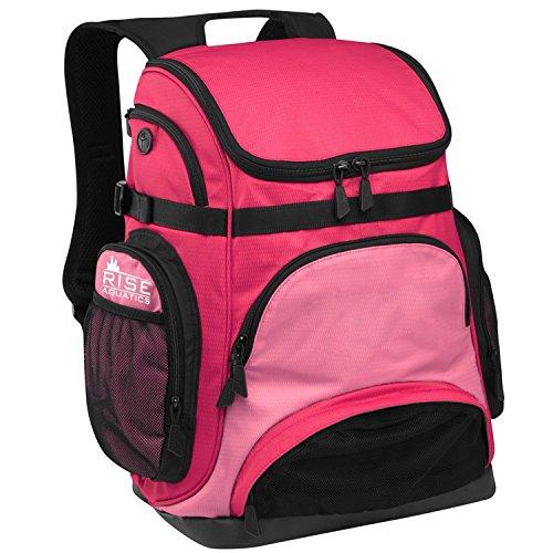 Speedo Base (RISE Aquatics Pro Team Backpack - Pink/Light Pink)