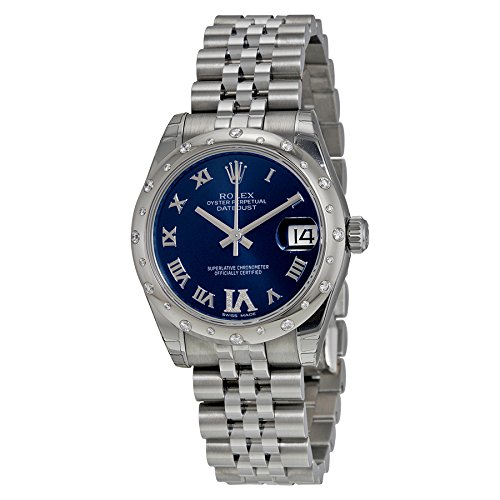 Rolex Datejust Automatic Blue Dial Stainless Steel Ladies Watch 178344BLRDJ