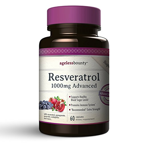 Cheap Resveratrol 1000mg Advanced with 6 additional Powerhouse Antioxidants | Enhanced overall Effectiveness | with Grape Seed Extract, Acai, Quercetin, Pomegranate and Lactobacillus Acidophilus