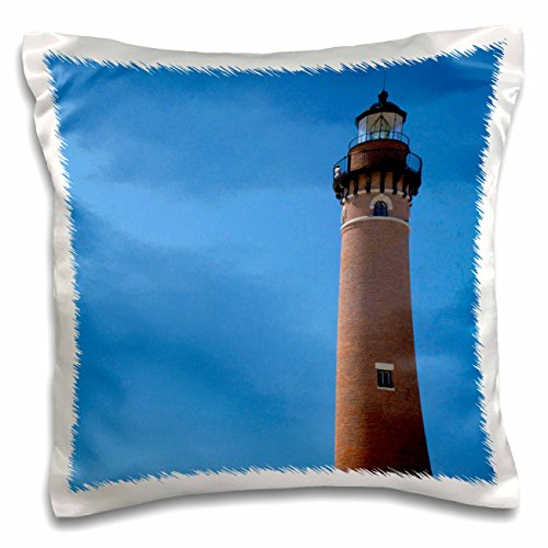 - 3dRose pc_144707_1 Little Sable Point Lighthouse, Lake Michigan Use Us23 Dfr0234 David R Frazier Pillow Case, 16