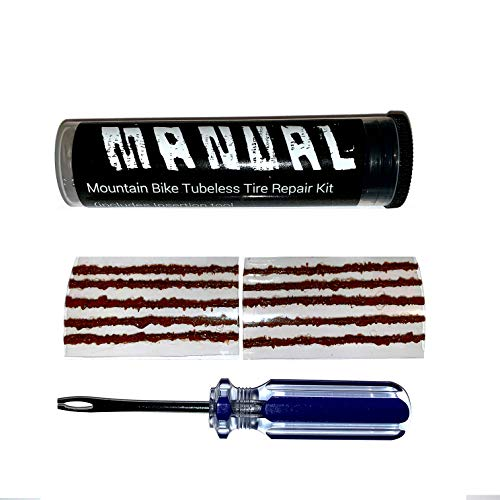 Manual Tubeless Tire Repair Kit MTB Bacon Strips Plus Insertion Tool (Best Tubeless Tire Repair Kit)