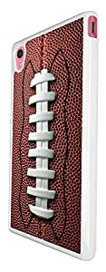 658 - American football ball Design For Sony Xperia M4 Fashion Trend CASE Back COVER Plastic&Thin Metal