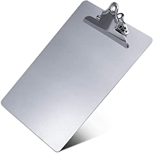 Metal Clipboard, Contractor Heavy Duty Aluminum Clipboard with High Capacity Clip, Rust-Proof Plate for Letter Size and A4 Paper Sheet, Supplies for Office, Jobsite, Medical, School, Law Enforcement