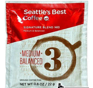 Seattle's Best Level 3-4 Cup Filter Pack Coffee - 120 / Case