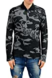 Versace Jeans Men's Grayish Wool Polo Light Sweater US S IT 48