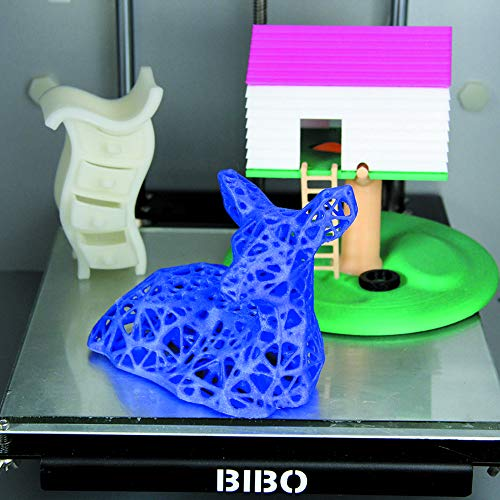 BIBO 3D Printer Dual Extruder Sturdy Frame WiFi Touch Screen Cut Printing Time in Half Filament Detect Demountable Glass Bed