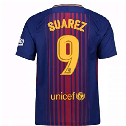 0a77925ad Amazon.com   2017-2018 Barcelona Home Football Soccer T-Shirt Jersey (Luis  Suarez 9) - Kids   Clothing