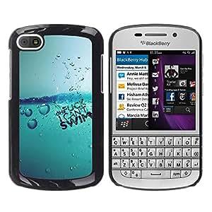EJOY---Cubierta de la caja de protección la piel dura para el / BlackBerry Q10 / --Agua Splash