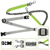 Simptech Dog Leash Hands Free For Running, Adjustable Waist Belt ,Durable Dual-Handle Bungee Leash, for Running, Jogging or Walking