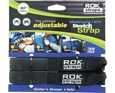 ROK Straps ROK10025 Motorcycle Strap - Black