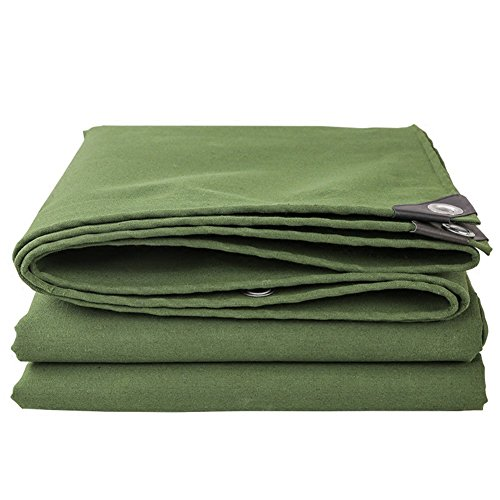 WUFENG Tarpaulin Thicken Hardy Rainproof Silicone Canvas Waterproof Sun Protection Light Breathable Cover Tent Canopy Cloth 0.7mm Thick 400g/m2 (Color : Green, Size : 5x8m)