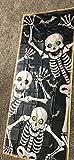 HALLOWEEN 72 x 30 inch hallloween door cover - spooky skeleton movie it IT - Spooky Ghost-TRICK or TREAT-DOOR COVER MURAL Halloween Party Prop Decoration-NEW