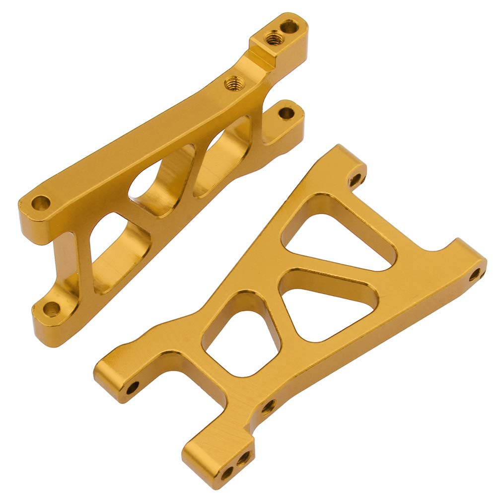 Hobbypark Aluminum Front /& Rear Suspension Arms Set Replacement of M606 23606 for RedCat Volcano 18 V2 Himoto E18 1//18 RC Cars