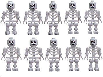 Lego tan Skelett weißer Kopf rote Augen tan skeleton white head  gruselig
