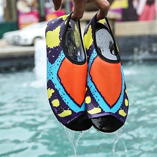 SAGUARO Barefoot Water Skin Shoes Aqua Socks For Beach Swim Surf Yoga Orange 5 pFWMJmcKWk