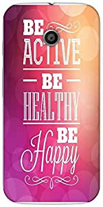 Snoogg Typographic Poster Design Be Active Be Healthy Be Happy Designer Prote...