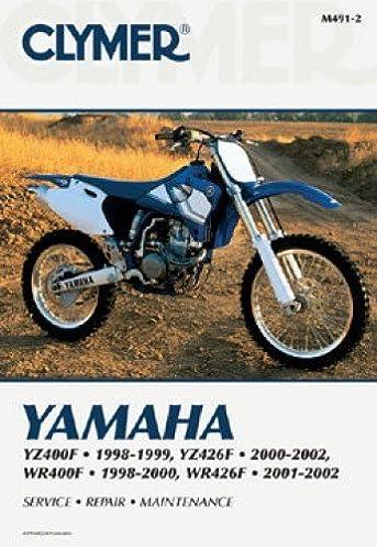 m491 2 yamaha yz400f yz426f wr400f 1998 2002 clymer motorcycle rh amazon com yamaha yz426f wiring diagram