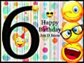 Custom Sixth Emoji Birthday Poster for Kids - Size 24x36, 48x24, 48x36; Personalized 6th Emoji Birthday Banner Wall Décor, Handmade Party Favors Poster Print