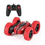#3: OCDAY RC Stunt Car Toys Double-Sided 2.4Ghz Remote Control Car 360-Degree Flips Tumbling Rolling Vehicles with Led Headlight Gift for Kids
