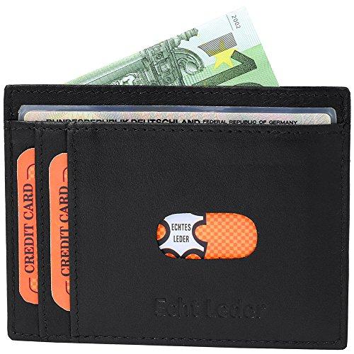 Ultra Piatto XXL - Custodia per carte di credito in pelle nappa Feines #KrXXL01