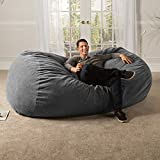 Jaxx 7 ft Giant Bean Bag Sofa with Premium Chenille Cover, Grey