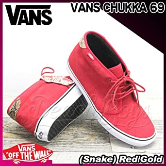 a03f5c3413 VANS(バンズ) チャッカ CHUKKA 69 (Snake) Red Gold メンズ(