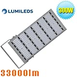 1500W Metal Halide Equivalent 300W Outdoor LED Flood Light Parking Lot Pole Lights Daylight White 6000K Roadway Floodlight