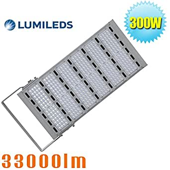 (Pack of 4) 1000W Metal Halide Replacement 300W LED Flood Light Parking Lot Pole Fixtures Daylight White 6000K Garage Stadium Floodlight