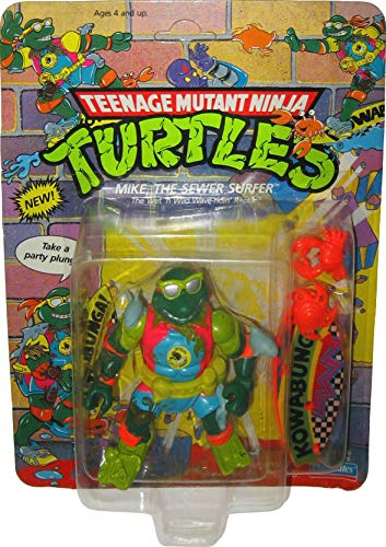 Teenage Mutant Ninja Turtles Vintage 1990 Mike The Sewer Surfer Action - Toy 1990's
