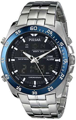 Pulsar Analog Wrist Watch (Pulsar Men's PW6013 Analog Display Japanese Quartz Silver Watch)