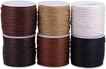 Pandahall Elite - Bovina de hilo de algodón de cera (1 unidad, 1 ...