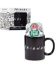 Friends Kubek do kawy i centralny perk nowość skarpetki zestaw prezentowy z kubkiem do kawy zmieniającym ciepło, oficjalny artykuł telewizyjny