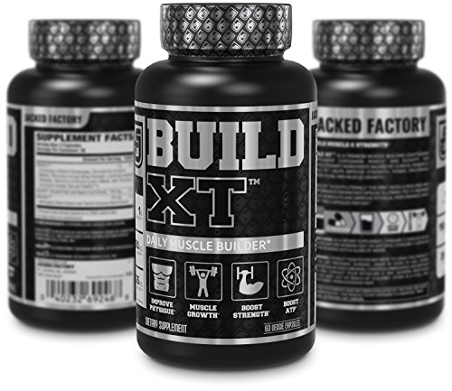 BUILD-XT Muscle Builder - Daily Muscle Building Supplement for Muscle Growth and Strength | Featuring Powerful Ingredients Peak02 & elevATP - 60 Veggie Pills by Jacked Factory (Image #3)
