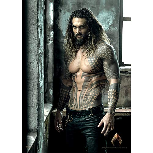 (MightyPrint Justice League Movie Aquaman (Jason Momoa - Shirtless) Wall Art - Not Made of Paper! Strong - Lasting- Matte Finish)