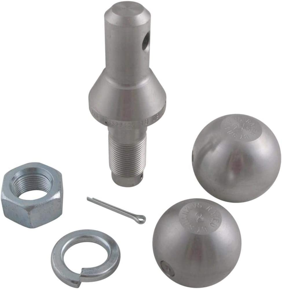 1 7//8in Dia Convert-A-Ball Interchangeable Hitch Ball Set Dia Balls Shank 3//4in /& 2in