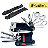 SIGTUNA Bike Tool Kit - Sturdy 19-in-1 Bike Multitool Repair Kit with All-You-Need Spoke, Wrench, Lever and Hex Multi-Tools and Biking Accessories for Mountain and Road Cycling