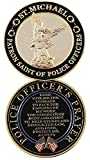 #10: St. Michael Patron Saint of Police Officers Challenge Coin With Prayer