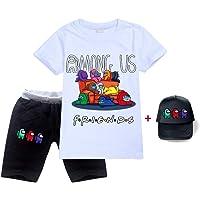 HAULBOTV Among Us Unisex Imposter Hermano no Soy yo Game Multa Estampado gráfico Camiseta Pantalones Cortos Gorra de…