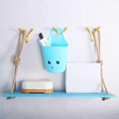 WEBI Wall Hook : Modern, Heavy-Duty, Decorative, Double V-Hook, Coat Hook, Towel Holder, Key Hanger, Metal Utility Hook for Bathroom Shower, Closet, Entryway, Kitchen, V-XSG-G-6 (Golden, 6 Packs) by WEBI (Image #2)