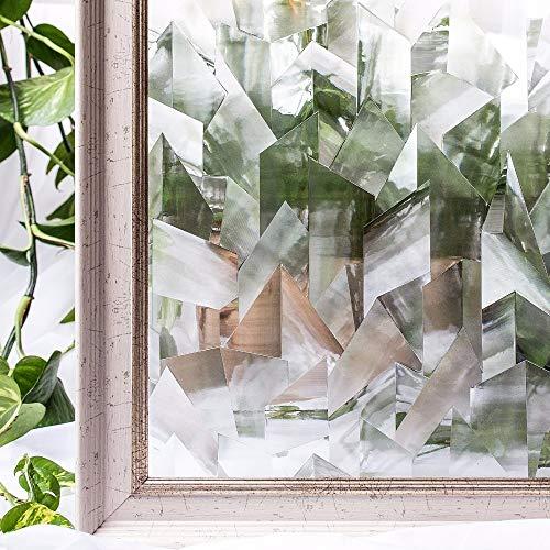 Pechalar - 60 x 200cm Irregular PVC Waterproof Window Films Cover No-Glue 3D Static Decorative Privacy Window Glass Sticker
